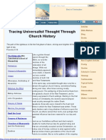 Tracing Universalist Thought Through Church History