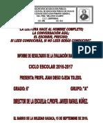 Informe de Resultados de La Evaluación Diagnóstica 6 a Ciclo 2016-2017