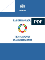 Transforming Our World - the 2030 Agenda for Sustainable Development