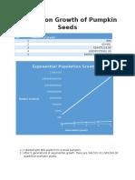 population growth of pumpkin seeds