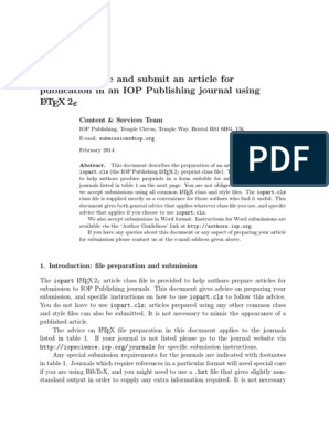 IOP Latex Guidelines | Filename | Text