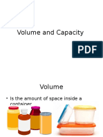 Volume and Capacity(1)