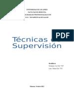 Tecnicas de Supervision