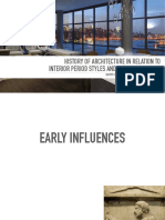 History of Architecture in Relation to Interior Period Styles and Furniture Design