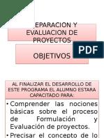 Preparcion y Evaluacion de Proyectos 1ra. Clase