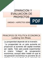 Preparacion y Evaluacion de Proyectos, Unidad I