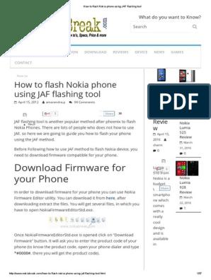How to Flash Nokia Phone Using JAF Flashing Tool | Consumer