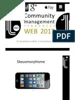 Tendances WEB Community Management 2017
