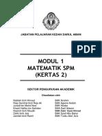 MODUL 1 MATEMATIK SPM