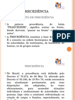 2ª Aula CFO III - Precedência