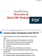 Kuliah 6 Overview Metodologi Hard Operation Research