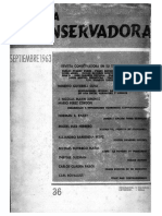 Revista Conservadora No. 36 Sep. 1963