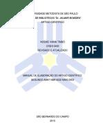 2015 - Manual de Artigo Cientifico 2015
