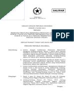 Undang-Undang Nomor 2 Tahun 2015 tentang Penetapan Peraturan Pemerintah Pengganti Undang-Undang No. 2 Tahun 2014 tentang Perubahan atas Undang-Undang No. 23 Thn 2014 tentang Pemerintahan Daerah Menjadi Undang-Undang