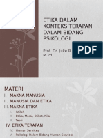 Etika Dalam Konteks Terapan Dalam Bidang Psikologi 120916