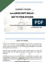 Training Course Describtion_Advanced Soft Skills . TBILISI (1)