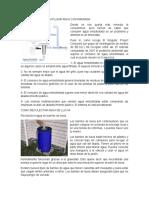 Dispositivo Para Reutilizar Agua Contaminada