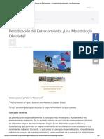 Periodización Del Entrenamiento_ ¿Una Metodología Obsoleta_ - Alto Rendimiento