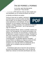 San Martin de Porres o Porras