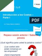 Tema 1 - Introducción a Los Costos - Parte I