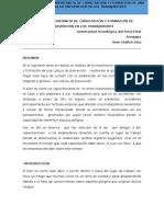Análisis de La Importancia de Capacitación y Formación de Una Cultura de Prevención en Los Trabajadores