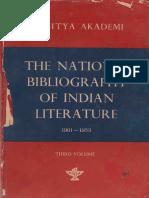 The National Bibliography of Indian Literature (1901-1953) Vol. 3 (Panjabi) - Dr. Ganda Singh