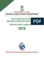 CPWD HorticultureDSRDAR2016
