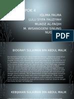 Biografi Sulaiman Bin Abdul Malik