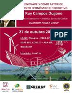 Convite Evento - Energias Renovaveis Como Fator de Desenvolvimento Economico e Produtivo 2