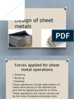 Design of Sheet Metals