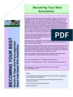 Becoming Your Best Newsletter - May, 2010 Issue