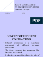 The Efficient Contracting Approach to Decision Usefulness