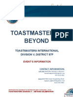 Toastmasters and Beyond Event Information Oct 23 2016