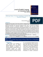 Addressing Trainees' Diversity Conundrums in Translator Education-Towards a Responsive Pedagogy