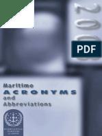 Lorenzo Cimador Maritime Acronyms and Abbreviations 2003