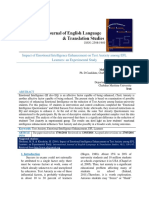 Impact of Emotional Intelligence Enhancement on Test Anxiety Among EFL Learners- An Experimental Study