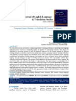 Language Learner Strategies for Building EFL Learners' Autonomy