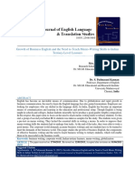 Growth of Business English and the Need to Teach Memo-Writing Skills to Indian Tertiary-Level Learners