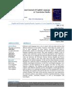 English and Persian Cognates-Pseudo Cognates-A Cross-Linguistic Investigation