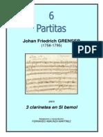 6 PARTITAS (J. F. GRENSER) - 3 Clarinetes.Fernando Abaunza Martínez