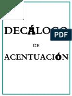 Decálogo Ortografico PDF