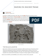 Female Gladiators in Ancient Rome (Article) - Ancient History Encyclopedia