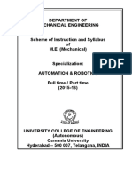 M.E. Automation and Robotics Syllabus 2015-16