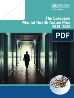 WHO Europe Mental Health Action Plan 2013-2020