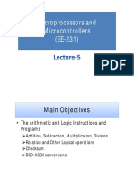 Lecture-5 (Microprocessors and Microcontrollers)