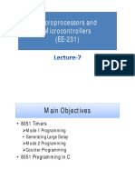 Lecture-7 (Microprocessors and Microcontrollers)