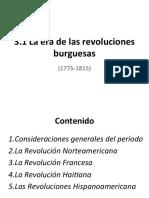 3.1 Revoluciones Burguesas