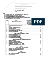 Course Outline - International Trade Laws - 2015-16