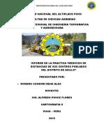 Informe de Cartografia II Informe 2015