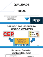 Qualidade Total - 5s - 6Sigma - ISO - Ciclo PDCA